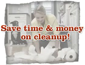 Save time & money on cleanup!